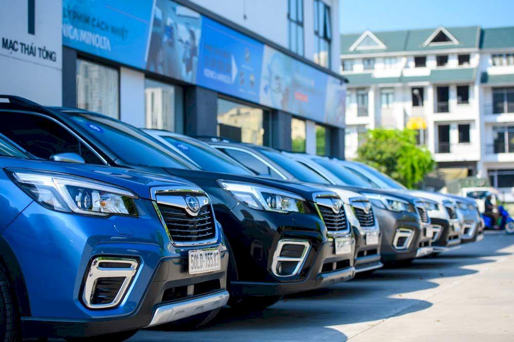 Subaru Hà Nội: Sự kiện trưng bày và lái thử xe subaru tại Cầu Giấy