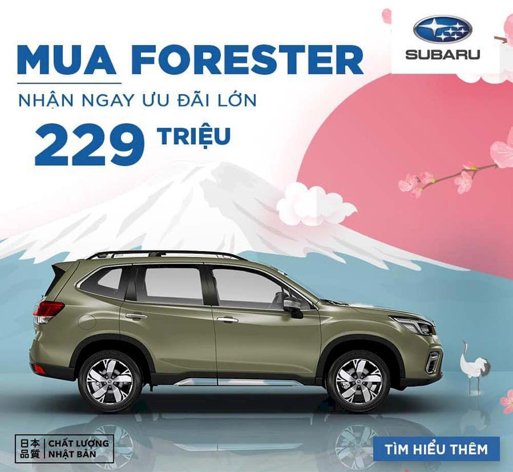 Subaru Forester 2021 bùng nổ khuyến mãi với giá từ 899 triệu đồng